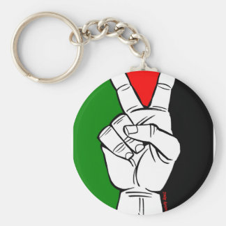 PALESTINE FLAG PEACE SIGN BASIC ROUND BUTTON KEY RING