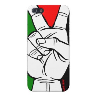 PALESTINE FLAG PEACE SIGN CASE FOR THE iPhone 5