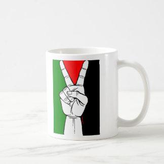 PALESTINE FLAG PEACE SIGN COFFEE MUG