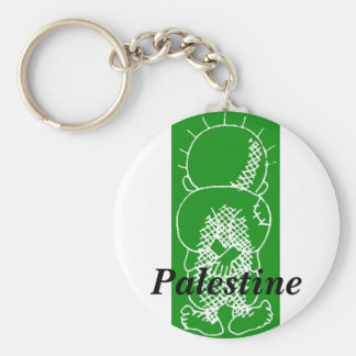 palestine handalah basic round button key ring