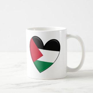 Palestine Heart Flag Basic White Mug