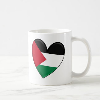 Palestine Heart Flag Coffee Mug