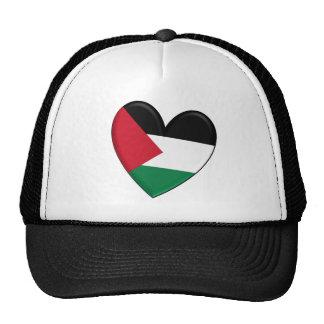 Palestine Heart Flag Trucker Hat