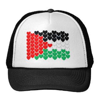 Palestine hearts cap