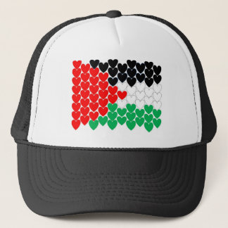 Palestine hearts trucker hat