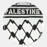 Palestine Keffiyah Round Sticker