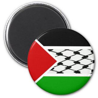 Palestine Keffiyeh Flag 6 Cm Round Magnet