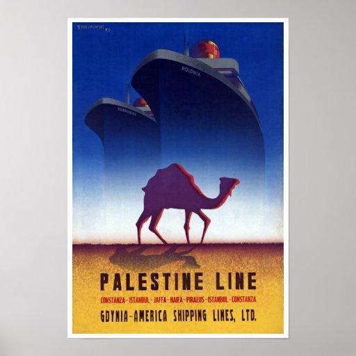Palestine Line Posters