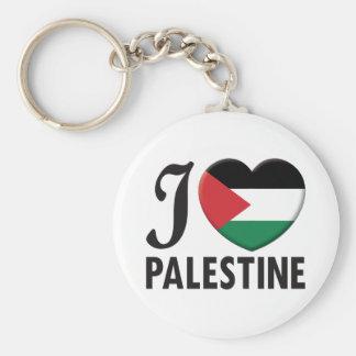 Palestine Love Basic Round Button Key Ring
