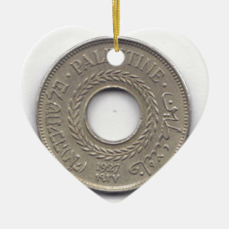 Palestine National Pride Coin Collection Christmas Ornament