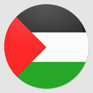 Palestine quality Flag Circle Classic Round Sticker