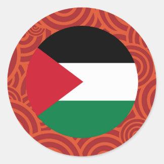 Palestine round flag round sticker
