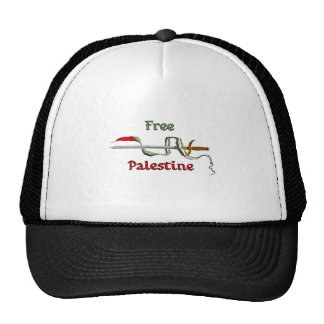 Palestine sword surrounded by the Palestinian flag Trucker Hat