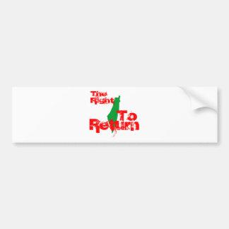 Palestine: The RIght To Return Bumper Sticker