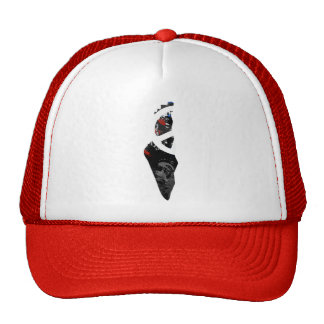 Palestine Trendy Peace Sign with Palestinian map Cap
