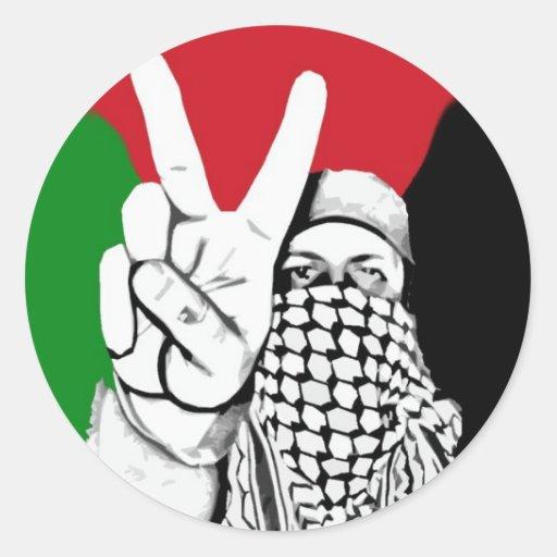 Palestine Victory Flag Round Sticker