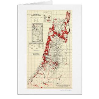 Palestine Village Map 1949 Card