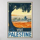 Palestine Vintage Travel Poster Ad Retro Prints