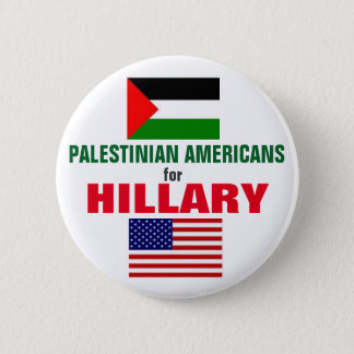 Palestinian Americans for Hillary 2016 6 Cm Round Badge