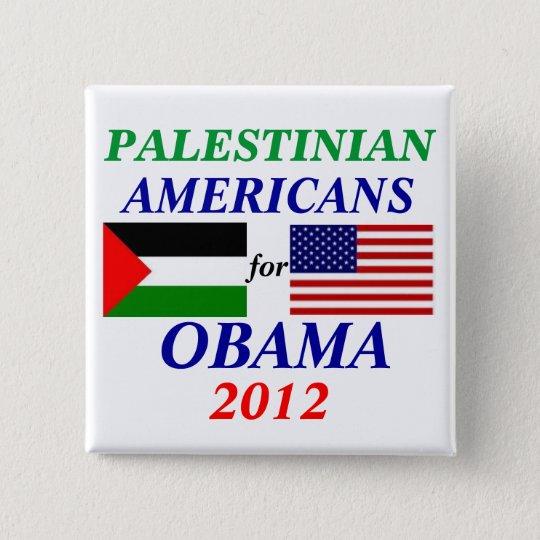 palestinian americans for Obama 15 Cm Square Badge