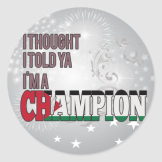 Palestinian and a Champion Stickers