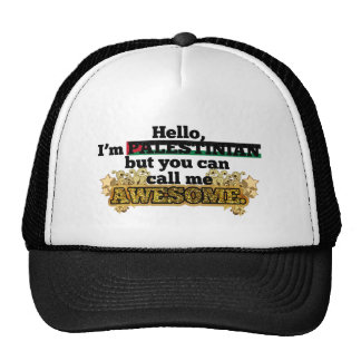 Palestinian, but call me Awesome Trucker Hats