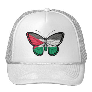 Palestinian Butterfly Flag Mesh Hats