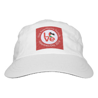 Palestinian LOVE White on Red Hat