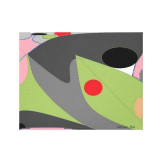 Palette. An abstract by Janet Davies, Devon Canvas Print
