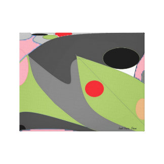 Palette. An abstract by Janet Davies, Devon Stretched Canvas Print
