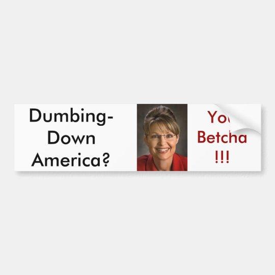 Palin1 Bumper Sticker