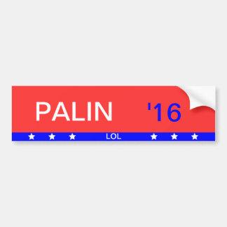 """""""Palin '16"""" Bumper Sticker"""
