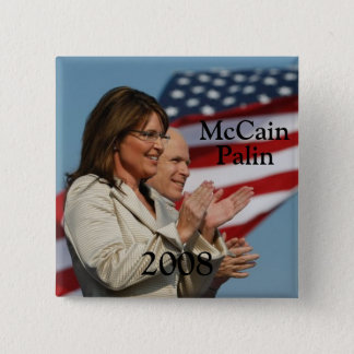 Palin 2008 15 cm square badge
