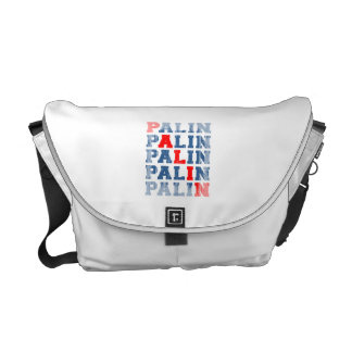 Palin 2012 - 3c Faded.png Messenger Bags