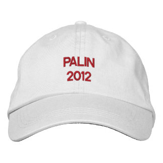 PALIN 2012 Cap Embroidered Hats