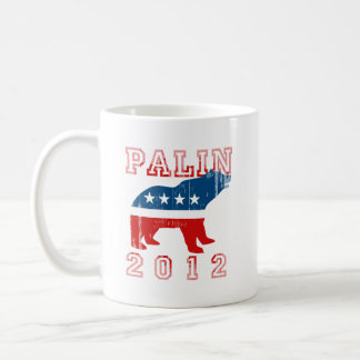 Palin 2012 (Mama Grizzly) Faded.png Basic White Mug