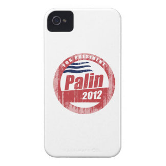 Palin 2012 round red Faded.png iPhone 4 Case