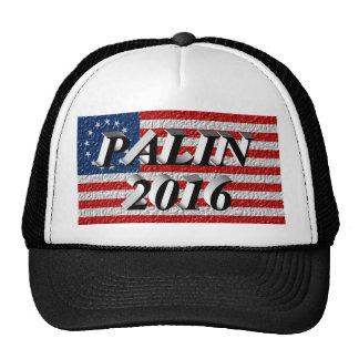 PALIN 2016 Cap, Black 3D, Betsy Ross Trucker Hat