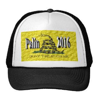 PALIN 2016 Cap, Black 3D, Gadsden Trucker Hat