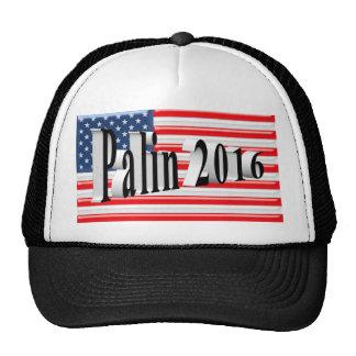 PALIN 2016 Cap, Black 3D, Old Glory Hats
