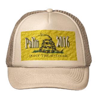 PALIN 2016 Cap, Brown 3D, Gadsden Trucker Hat