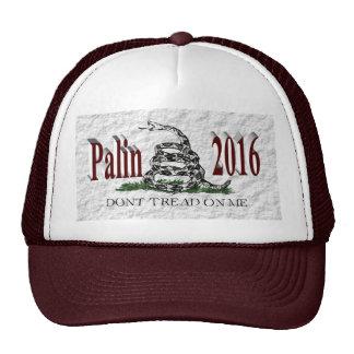PALIN 2016 Cap, Burgundy 3D, White Gadsden Hats