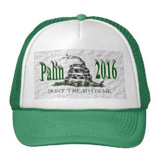 PALIN 2016 Cap, Green 3D, White Gadsden Hats
