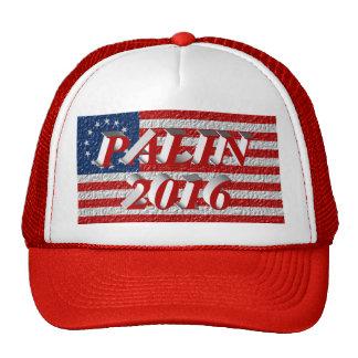 PALIN 2016 Cap, Light Red 3D, Betsy Ross Mesh Hats