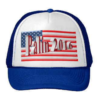 PALIN 2016 Cap, Red 3D, Old Glory Hat