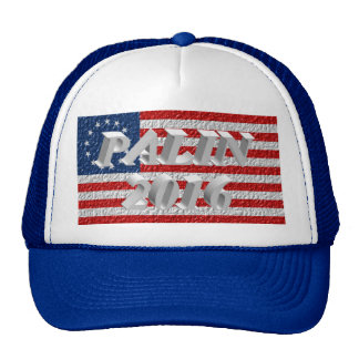 PALIN 2016 Cap, White 3D, Betsy Ross Mesh Hat