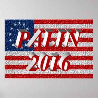 PALIN 2016 Poster, Light Red 3D, Betsy Ross Poster