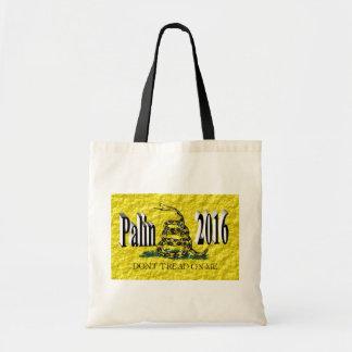 PALIN 2016 Tote Bag, Black 3D, Gadsden Budget Tote Bag