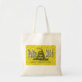 PALIN 2016 Tote Bag, Brown 3D, Gadsden Budget Tote Bag