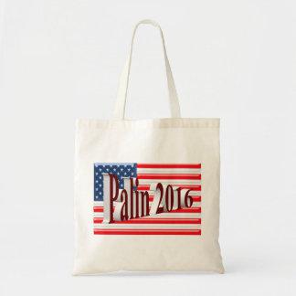 PALIN 2016 Tote Bag, Burgundy 3D, Old Glory Budget Tote Bag